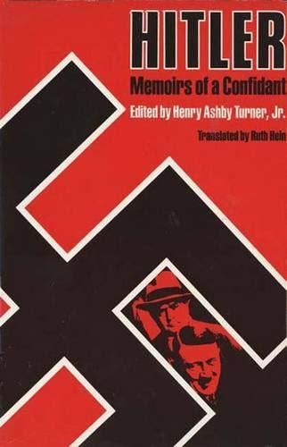 9780300032949: Hitler--Memoirs of a Confidant