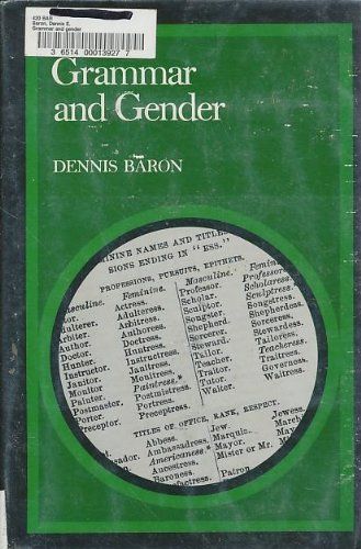 9780300035261: Grammar and Gender