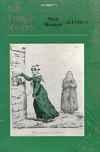 9780300036978: Men/Women of Letters (Yale French Studies)