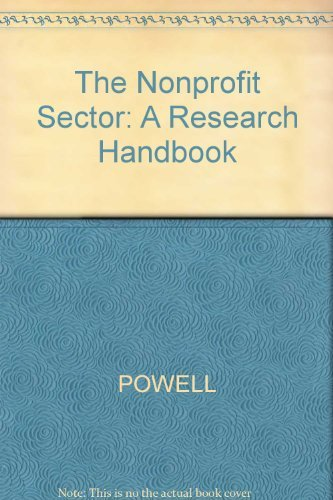 The Nonprofit Sector: A Research Handbook.: Redman, Deborah A.
