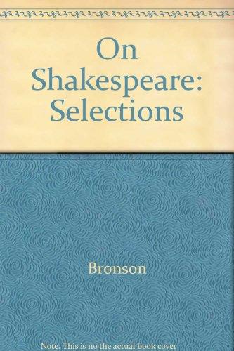 Selections from Johnson on Shakespeare Bronson, Bertrand