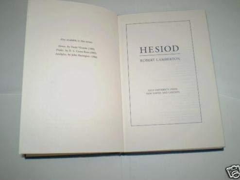 9780300040685: Hesiod (Hermes Books)