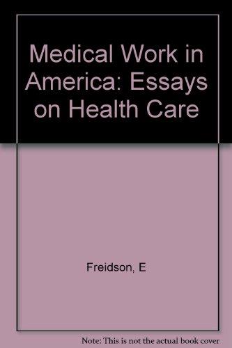Frankenstein Essay Thesis  Medical Work In America Essays On Health Care Sample English Essays also How To Write Essay Papers  Medical Work In America Essays On Health Care  Essay Thesis Statement