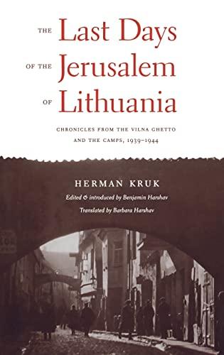 The Last Days of the Jerusalem of: Kruk, Herman; Harshav,