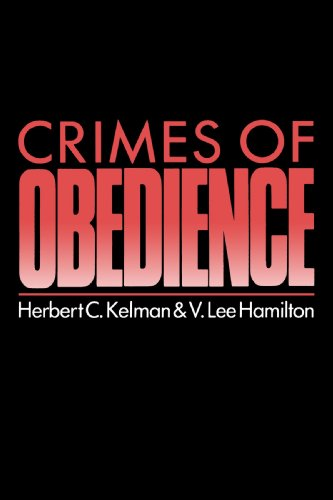 9780300048131: Crimes of Obedience: Toward a Social Psychology of Authority and Responsibility