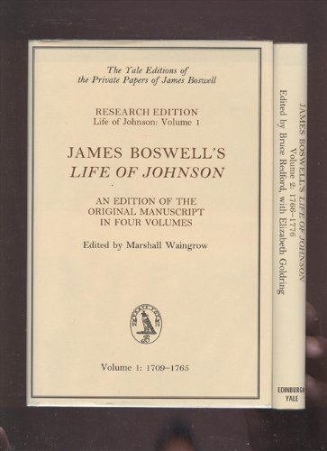 9780300060607: 001: James Boswell's Life of Johnson: An Edition of the Original Manuscript, Volume 1: 1709-1765 (Yale Editions of the Private Papers Jame)