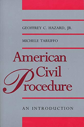 9780300065046: American Civil Procedure: An Introduction (Yale Contemporary Law Series)