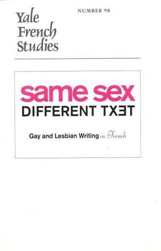 Yale French Studies, Number 90: Same Sex/Different: Brigitte Mahuzier (Editor),