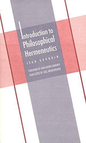 9780300070897: Introduction to Philosophical Hermeneutics (Yale Studies in Hermeneutics)