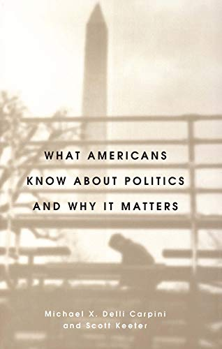 9780300072754: What Americans Know about Politics and Why It Matters
