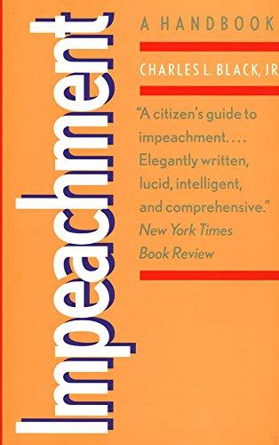 9780300079500: Impeachment: A Handbook (Yale Fastback Series)