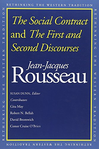 9780300091410: The Social Contract and the First and Second Discourses: And, the First and Second Discourses