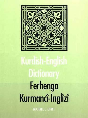 9780300091526: Kurdish-English Dictionary: Ferhenga Kurmanci-Inglizi