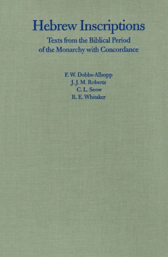 9780300103977: Hebrew Inscriptions: Texts from the Biblical Period of the Monarchy with Concordance