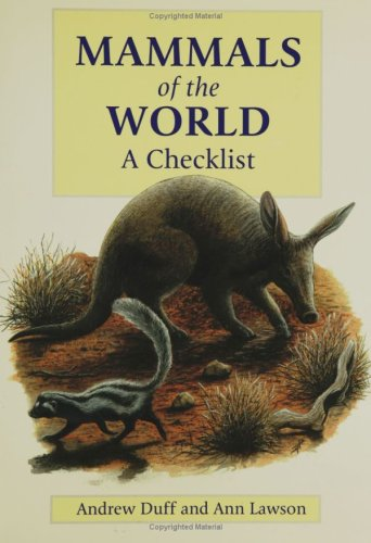 9780300103984: Mammals of the World: A Checklist