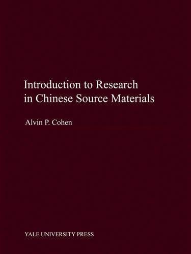 9780300114171: Introduction to Research in Chinese Source Materials