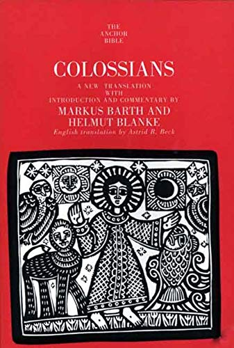 9780300139877: Colossians (The Anchor Yale Bible Commentaries)