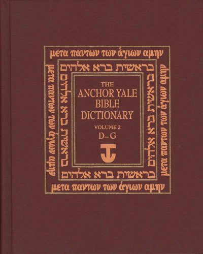 9780300140026: The Anchor Yale Bible Dictionary, D-G: Volume 2