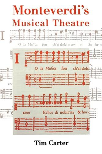 9780300217261: Monteverdi's Musical Theatre