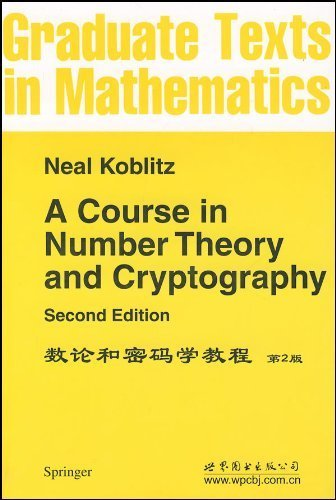 9780301942933: A Course in Number Theory and Cryptography, 2nd ed.