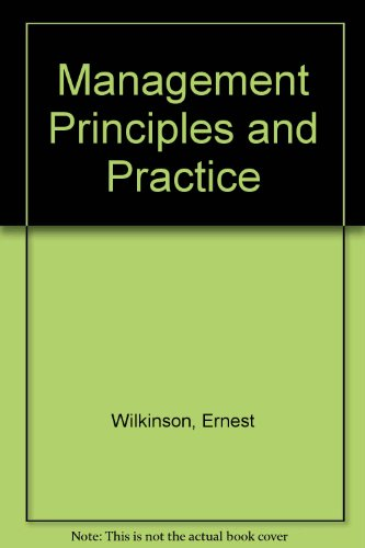 9780304290246: Management Principles and Practice