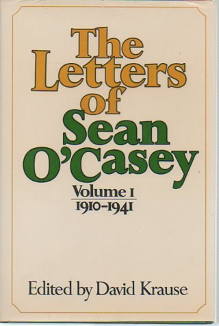 9780304296088: Letters of Sean O'Casey: 1910-41 v. 1