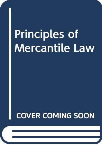 Principles of Mercantile Law: E.W. Chance