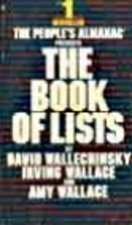 9780304299249: Book of Lists: v. 1