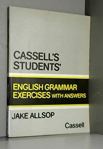 9780304305339: Students' English Grammar Exercises with Answers