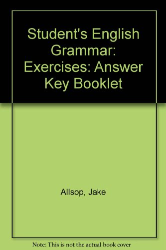 Students' English Grammar Exercises: w. Ans (030431045X) by Jake Allsop