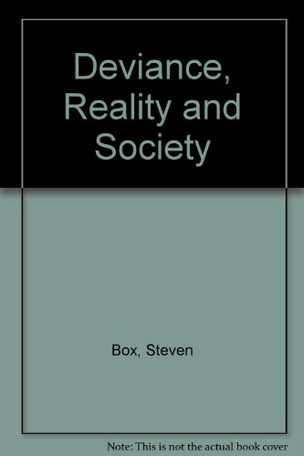 9780304314027: Deviance, Reality and Society