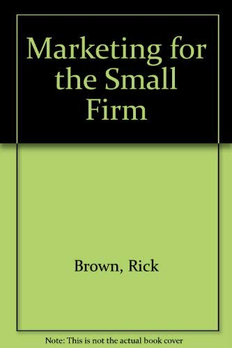 9780304314249: Marketing for the Small Firm