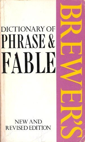 9780304315895: Brewer's Dictionary of Phrase and Fable