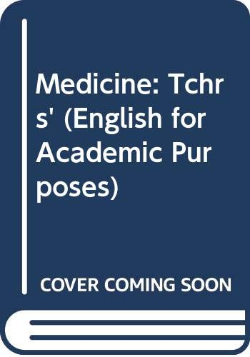 9780304317608: Medicine: Tchrs' (English for Academic Purposes)