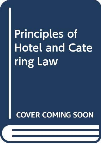 9780304322169: Principles of Hotel and Catering Law