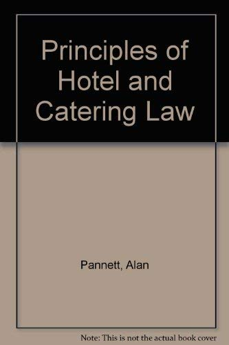 9780304324668: Principles of Hotel and Catering Law