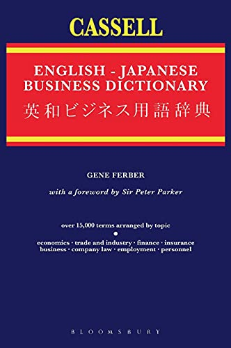 9780304325528: Cassell English-Japanese Business Dictionary