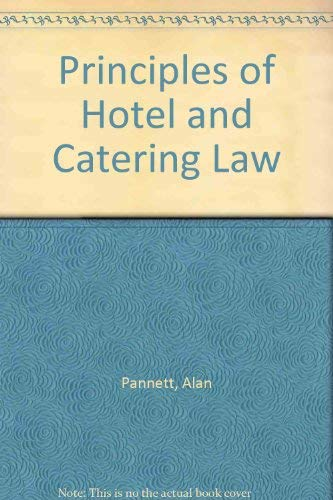9780304326099: Principles of Hotel and Catering Law