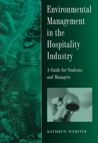 9780304332328: Environmental Management in the Hospitality Industry: A Guide for Students and Managers