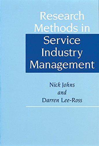 Research Methods in Service Industry Management: Darren Lee-Ross