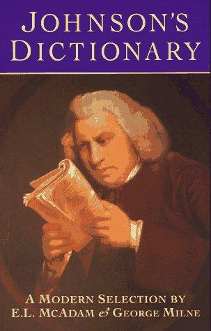 9780304347056: Johnson's Dictionary: A Modern Selection