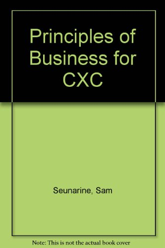 9780304705092: Principles of Business for CXC