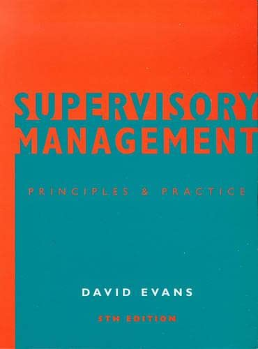 9780304706112: Supervisory Management: Principles and Practice