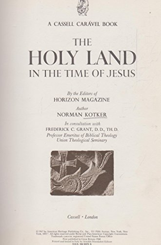 9780304920723: Holy Land in the Time of Jesus (Caravel Books)
