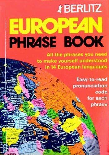 9780304964291: Berlitz European Phrase Book