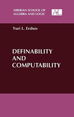 Definability and computability: Yuri L. Ershov