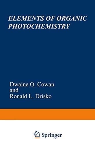 9780306308215: Elements of Organic Photochemistry