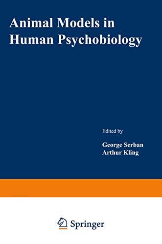 9780306308642: Animal Models in Human Psychobiology