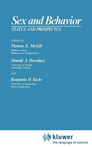 9780306310843: Sex and Behavior: Status and Prospectus