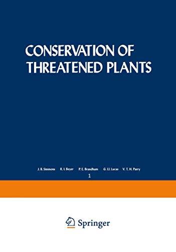 Conservation of Threatened Plants: Proceedings: Simmons, J.B. Beyer,